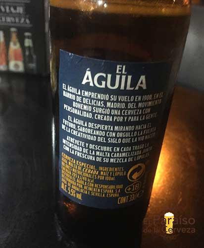 Cerveza El Aguila Lager España