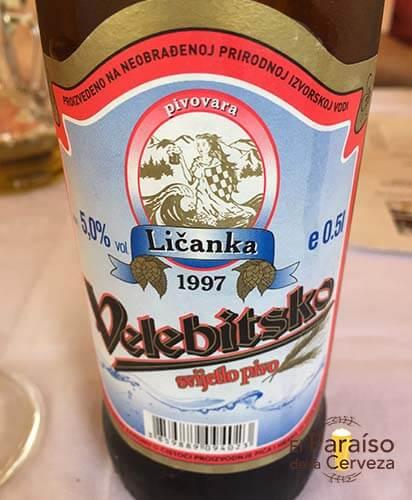 cerveza Velebitsko 3 botellin y vaso el paraiso de la cerveza