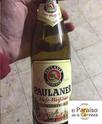 cerveza paulaner weisbier alemania botellin y vaso el paraiso de la cerveza el paraiso de la cerveza