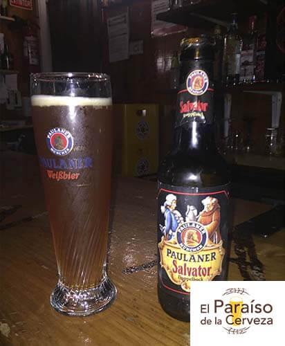 cerveza paulanes salvator alemania botellin y vaso el paraiso de la cerveza 1 el paraiso de la cerveza