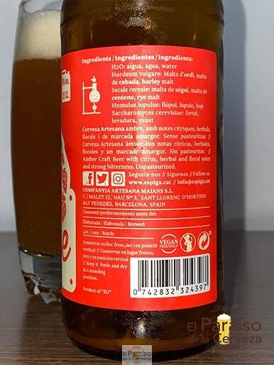 La cerveza Garage IPA Espiga artesana de barcelona