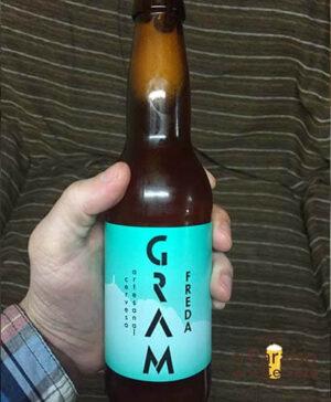 cerveza artesana Freda Gram ontinyet valencia españa botellin delantera