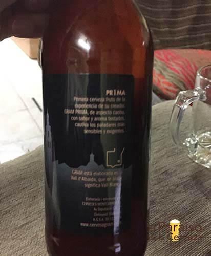 cerveza artesana PRIMA ontinyet valencia españa botellin jarra lateral