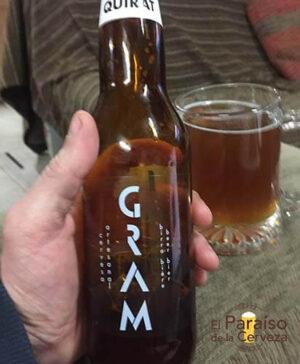 cerveza artesana Quirat Gram ontinyet valencia españa botellin delantera