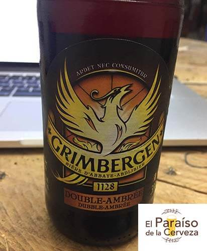 grimbergen-double-ambree belgica botellin delantera el paraiso de la cerveza