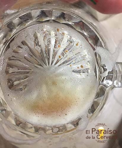 sedimientos de la cerveza artesana gram