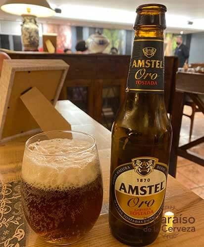 Cerveza Amstel Oro tostada España