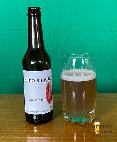 Cerveza Homo Singularias de trigo Tarragona España