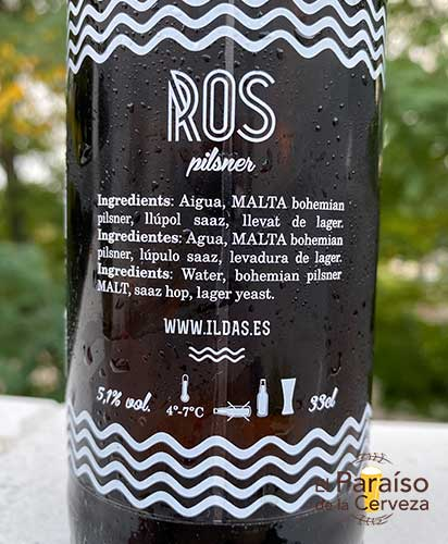 Cerveza Ros Ilda's Town Beer Barcelona España Bohemian Pilsen