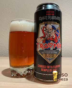 Iron Maiden Trooper de Robinsons Pale Ale Heavy Metal