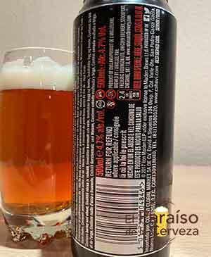 Iron Maiden Trooper de Robinsons Pale Ale etiqueta