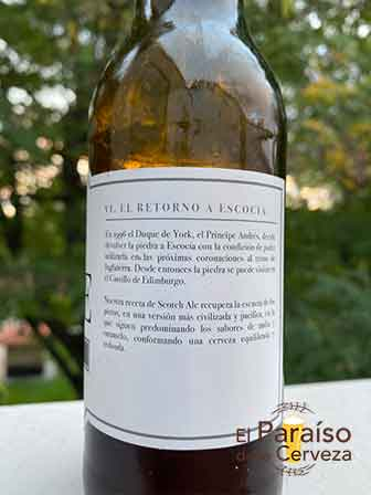 Scone Scotch Ale una Ale escocesa de Asturias de España