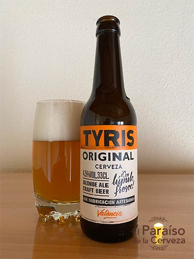 La cerveza Tyris Original Blond Ale de Valencia España