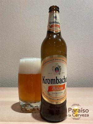 Cerveza Krombacher Weizen Naturtrüb de trigo de Alemania