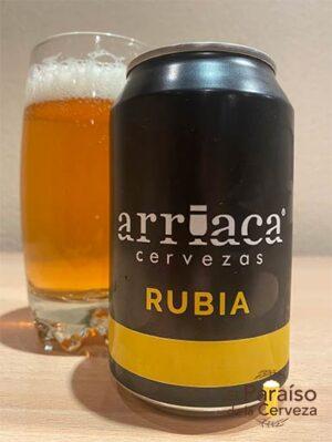 Cerveza Rubia Arriaca Pale Ale artesana Guadalajara España