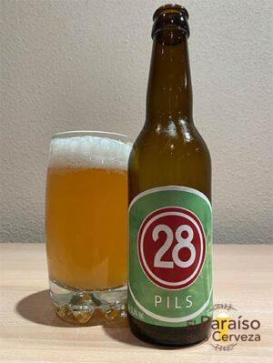 La cerveza 28 Pils una cerveza de la bodega belga Brasserie 28