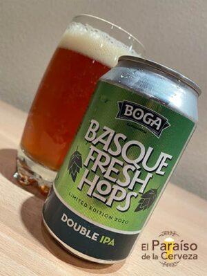 Cerveza Boga Basque Fresh Hops Double IPA Vizcaya