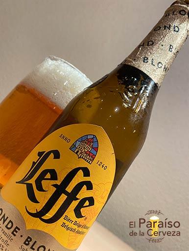Cerveza Leffe Blond belga de Abadia