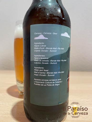 Cerveza Falles CTretze Pirineus Blond Ale