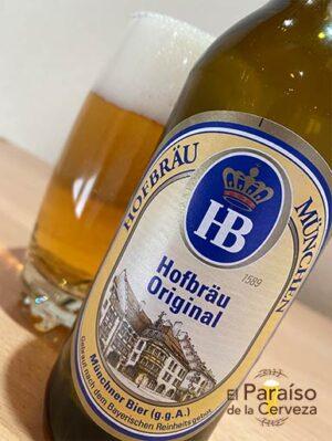 La cerveza Hodbräu München Original de estilo Münchner Hell de Alemania