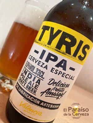La cerveza Tyris IPA la indian pale ale valenciana
