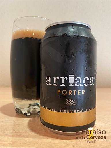 Cerveza Arriaca Porter de tipo Ale España
