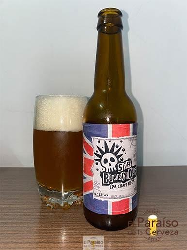 La Sir Beercious IPA Craft Beer de Birra y Blues una indian pale ale