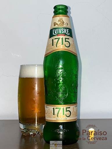La cerveza Liviske 1715 o 1715 Lvovskoe Pale Lager de Ucrania