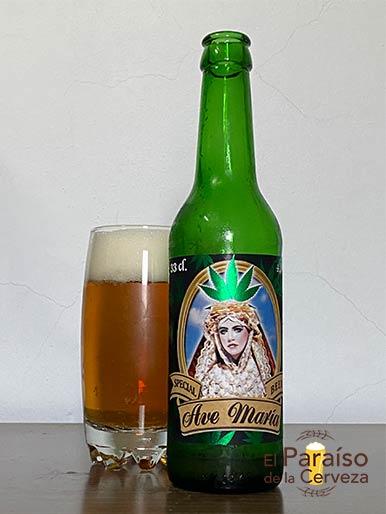 Cerveza Ave Maria con cañamo o cannabis