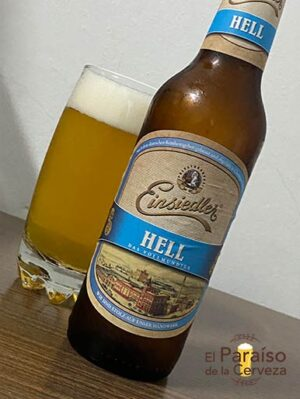 Cerveza Einsiedler Hell de Alemania de tipo Heller