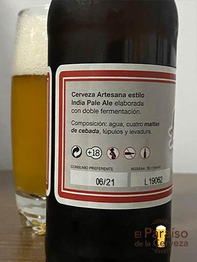 Cerveza La Mari IPA artesana de valencia