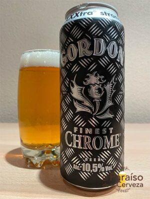 La Gordon Finest Chrome XXXtra Strong belga con 10 grado de alcohol