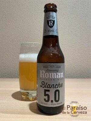 la cerveza Roman Blanche 5.0 de trigo o witbier de belgica